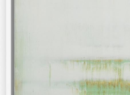 """Placid Mint   40x60cm "" - acrylic painting close-up"
