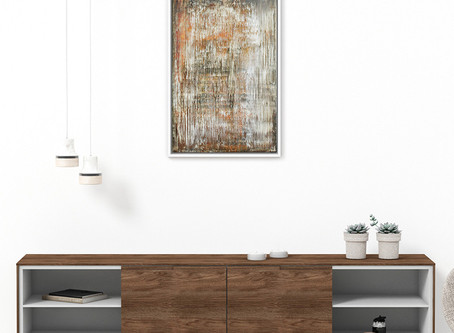 """""""Rising Falls"""" 40x60cm - abstract painting with modern interior"""