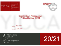 Max is participating at the International Contest of Contemporary Art YICCA 2020/21