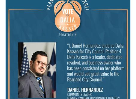 Daniel Hernandez Endorsement