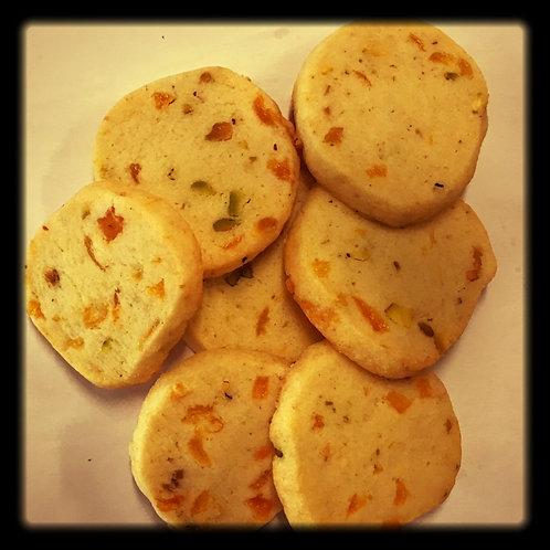 Pistachio-Apricot Shortbread Cookies