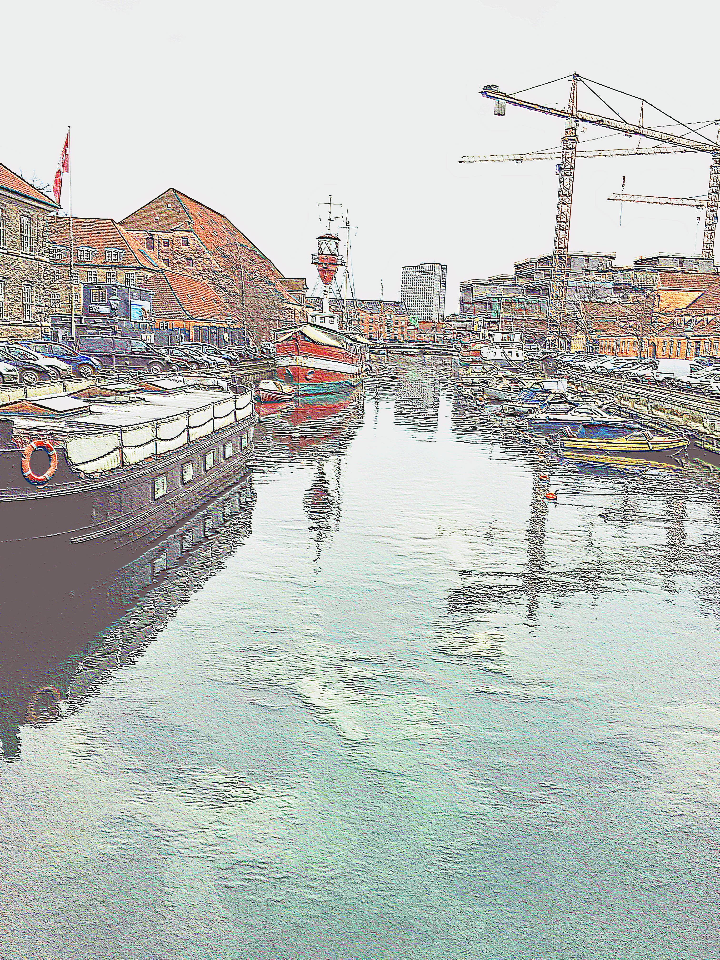 Harbor Scene - Copenhagen