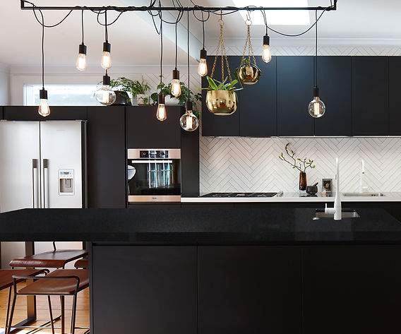 Absolute black kitchen decor ideas - Pacific Granites India
