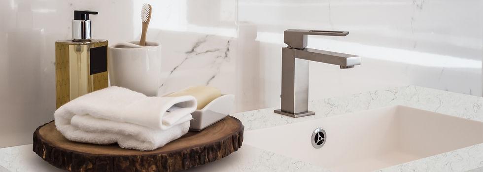 Bathroom Vanity - Bathroom design, toffee lite VIVA Quartz