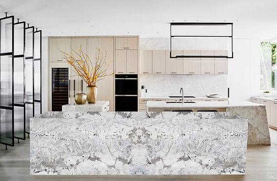 Azul Nuevo Granite Kitchen countertop - Pacific Granites India