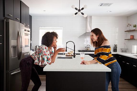 Stain resistant countertops, white countertops for Kitchen from VIVA Quartz