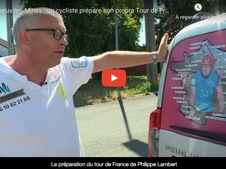 Reportage de France 3 sur le défi Tour de France de Philippe LAMBERT, accompagné par CERVOSPORT !