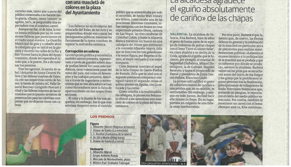 Recorte prensa Cabalgata 2015(1)
