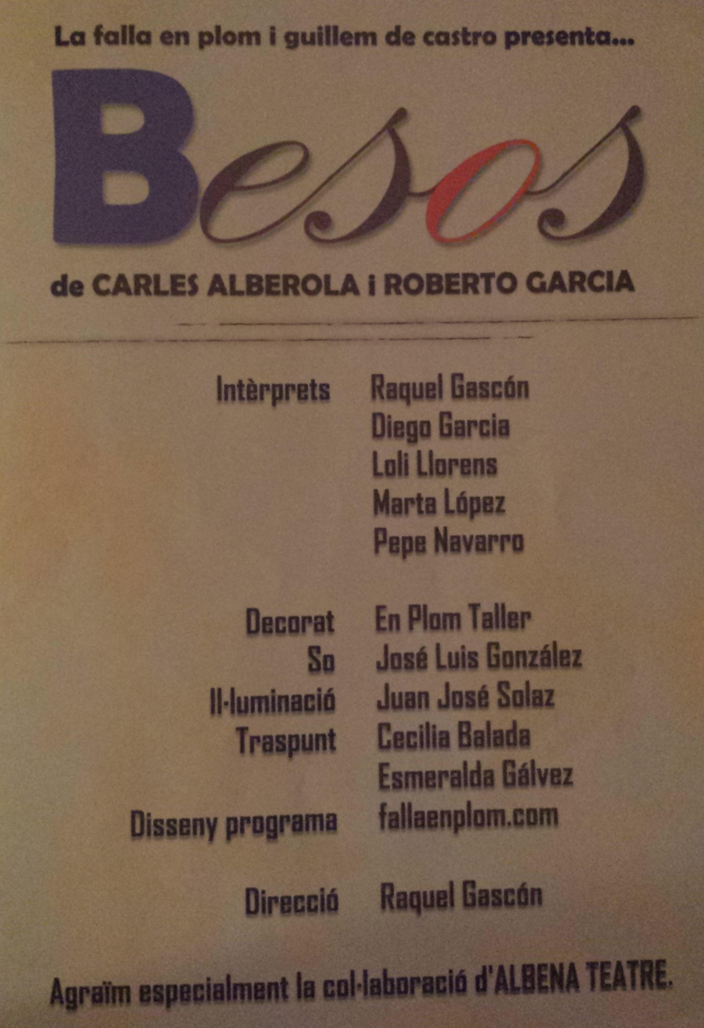 Besos 2005 _Teatro programa
