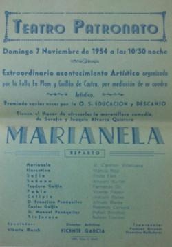 Marianela cartel 1954