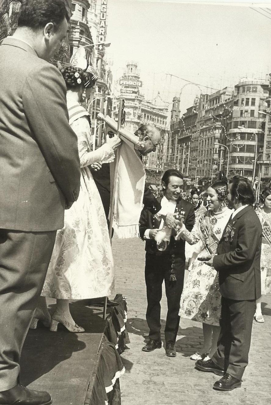 Recogida de premios 1973