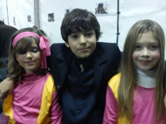 Nacho con Joanna y Aitana