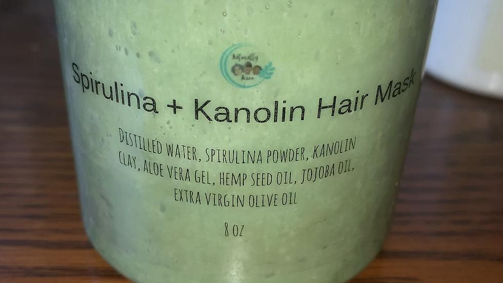Spirulina + kaolin hair mask