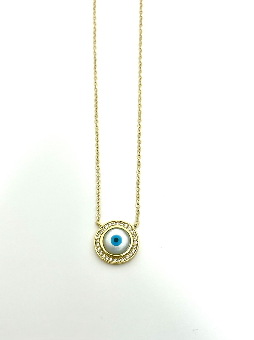 Eye see no evil .925 sterling silver necklace