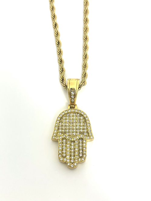 Hamsa protection necklace