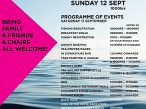 CBYC Regatta - Events and Times - this weekend