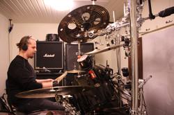 Petersen recording drums