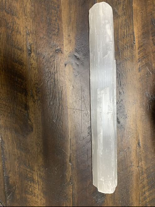 Rough selenite large wand  12inch