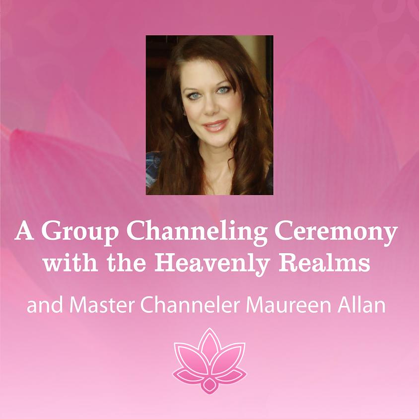 Group Channeling Ceremony Medium Maureen Allan