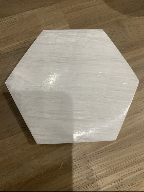 Selenite hexagon charger