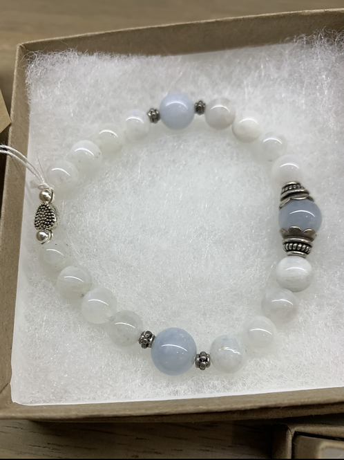 Moonstone &blue jade