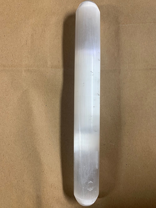 Polished selenite large wand 10in