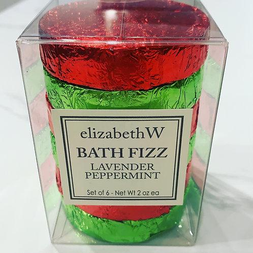Lavender& peppermint bath fizz