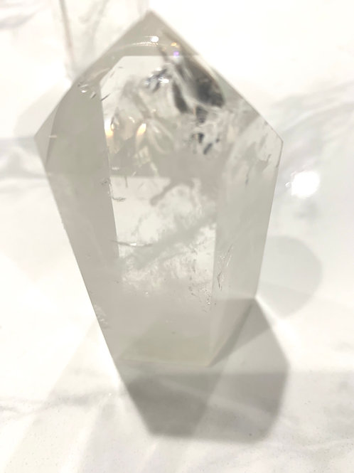 Clear quartz tower 3 1/4 inchx2inch