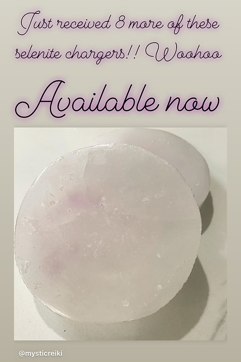 Selenite disc chargers