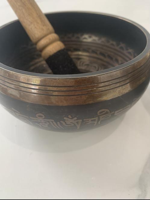Tibetan bowl black&brown 6inch