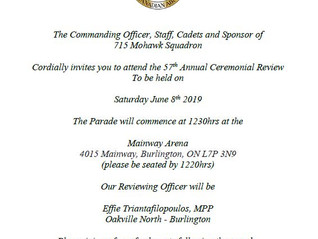 Annual Ceremonial Review (ACR) - June 8th 2019