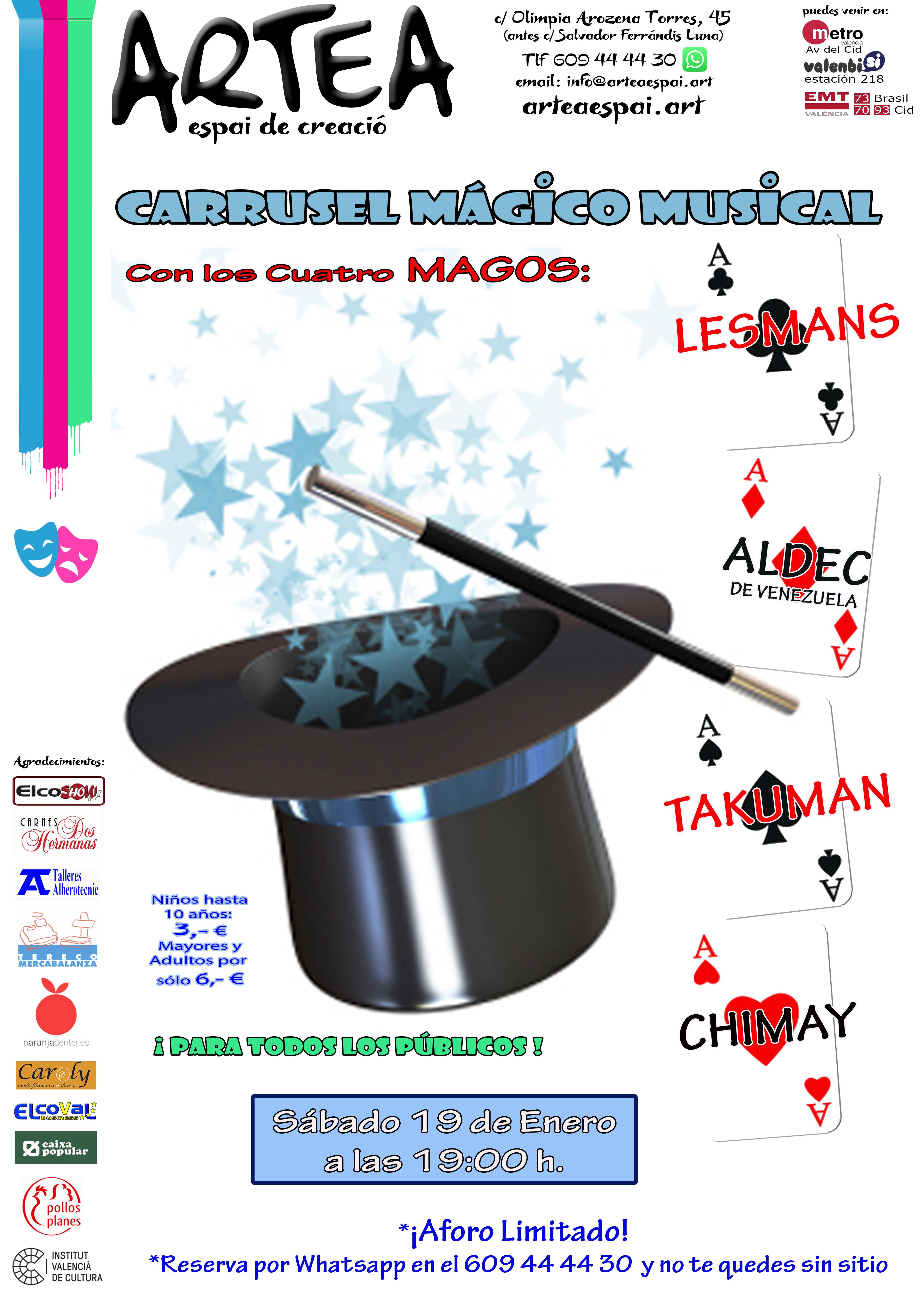 Cartel A3 Artea CARRUSEL MAGICO