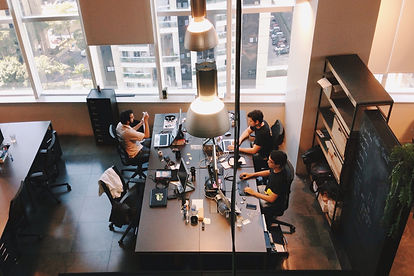 high-angle-view-of-people-working-in-off