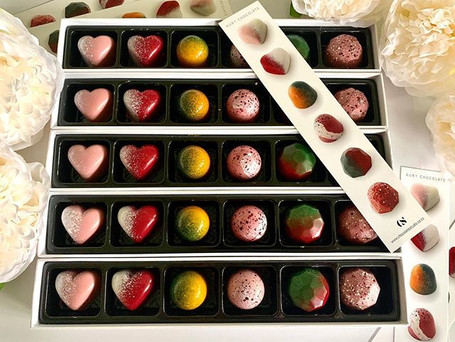 Ruby Chocolate truffles available