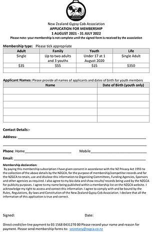 NZGCA membership form