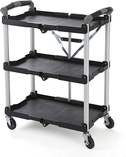 Olympia Tools 85-188 Pack-N-Roll Folding Collapsible Service Cart, Black, 50 Lb
