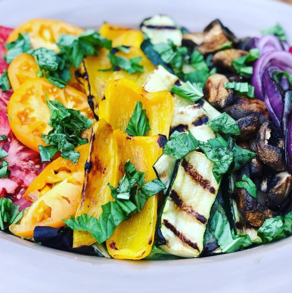 Colorful grilled salad