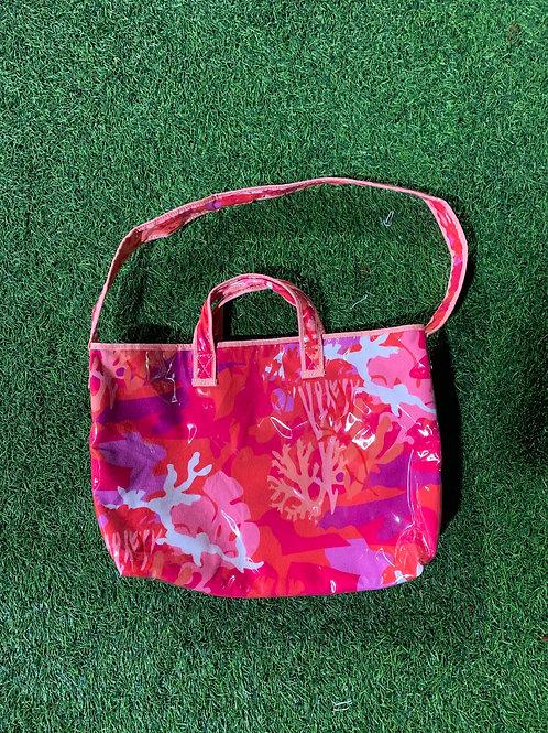 Coral Camo Tote Bag