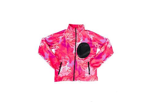 Coral Camo Fleece Jacket