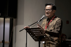 Sambutan oleh Bapak Koes Hendratmo, Ketua Umum PRISINDO periode 2013 - 2019.
