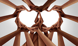 Diversity love and unity partnership as
