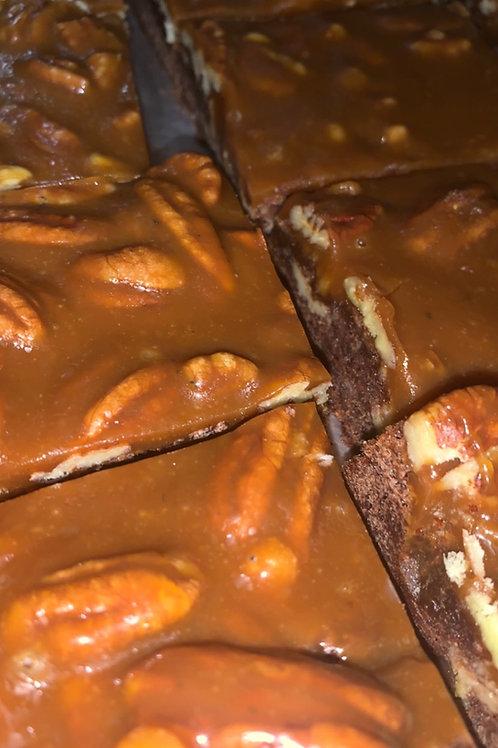 Gourmet Turtle Cheesecake Brownies