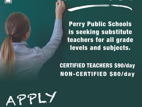 Perry Public Schools Seeking Substitute Teachers
