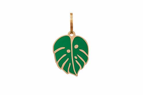 Palm Leaf Dog Tag Charm