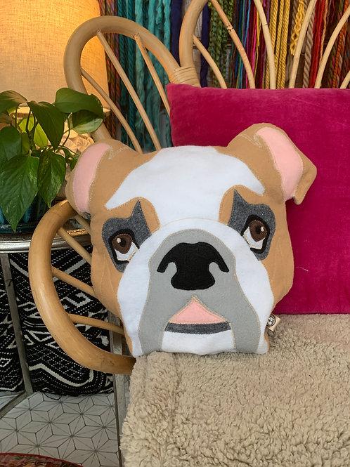 Bull Dog Accent Pillow