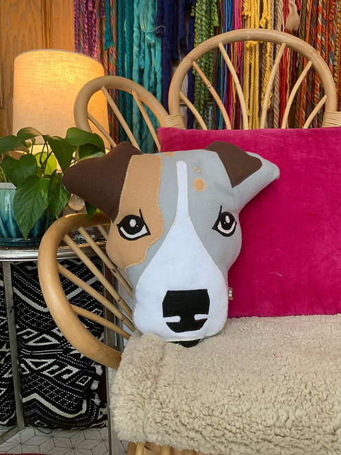 Jack Russel Accent Pillow