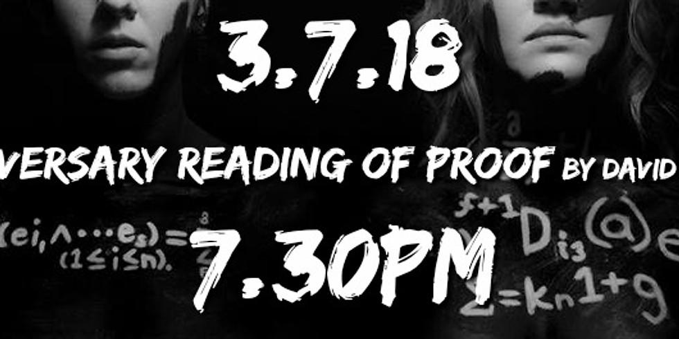 Anniversary Reading of Proof!