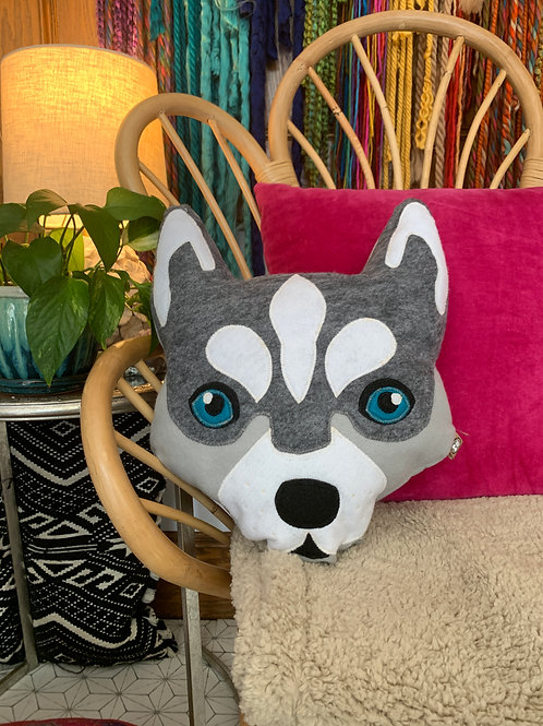 Husky Accent Pillow
