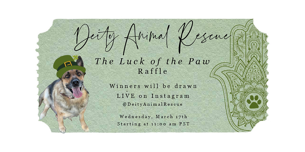 Are You Feeling Lucky!? **RAFFLE + INSTAGRAM LIVE EVENT!*