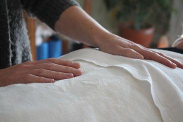 Mains de Chantal Grondin lors d'une polarité Sherbrooke